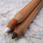 Cretacolor Artists Pencils - Sepia Light, Black Chalk and White Chalk Medium