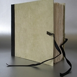 "Lama Li Square Ribbon Sketch Book- Sage Green 6""x6"""