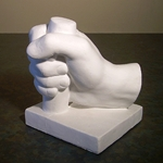 Plaster Anatomical Casting - Closed (Gripping) Hand