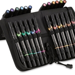 Prismacolor Art Marker Set - 24 Color Brush Marker Set With Case