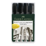 Faber Castell - Pitt Big Brush Pens - Warm Grey Set of 4