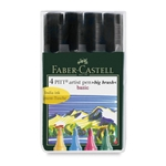 Faber Castell - Pitt Big Brush Pens - Basic Set of 4