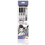 Pentel Color Brush Set of 4