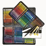 Caran D'Ache Neocolor II Watersoluble Crayon Set of 126 In a Metal Tin