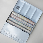 Schmincke Horadam 48 Half Pan Watercolor Set in an Aluminum Tin