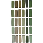 Terry Ludwig Soft Pastels Set of 30 Neutral Greens