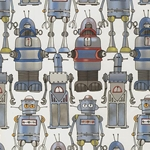 "Decorative Printed Paper - Robots 19""x27"" Sheet"
