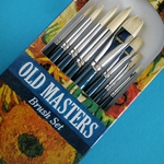 Old Masters Brush Set - 8 Hog Bristle Brushes