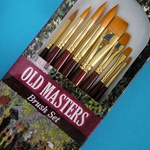 Old Masters Brush Set - 8 Orange Nylon Bristle Brushes