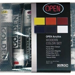 Golden OPEN Acrylic Modern Set of 6 22ml Tubes