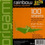 "Origami Rainbow Folding Squares - Pack of 100 6""x6"" Sheets"