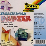 Iridescent Origami Paper - Fabric Embossed
