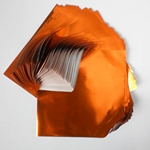 "Foil Origami Paper - Orange 3.5"" Square 100 Sheets"