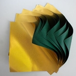 Double Sided Gold Foil/Green Paper Origami