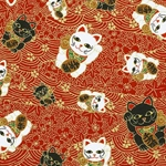 Lucky Cat - Chiyogami Paper