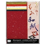 Momigami Origami Paper - Crinkled with Flecks