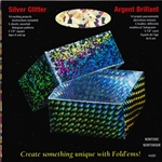 Origami Paper - Silver Glitter Hologram Patterns