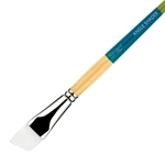 Princeton Snap! Short Handle White Nylon Taklon Brushes - Angle Shaders