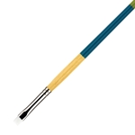 Princeton Snap! Short Handle White Nylon Taklon Brushes - Bright Shaders