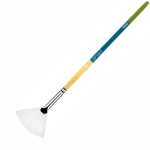 Princeton Snap! Short Handle White Nylon Taklon Brushes - Fan - Size 4