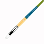 Princeton Snap! Short Handle White Nylon Taklon Brushes - Flat Shaders