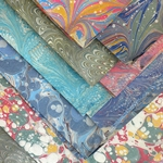 "Handmade Italian Marbled Papers - 19.7""x27.5"" Sheets"