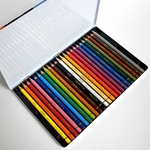 Conte Pastel Pencil Sets - 24 Assorted Colors in a Tin Box