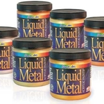 Liquid Metal Acrylic Paints - Set of 6 Colors .75 oz Jars