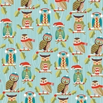 "Holiday Owls - 19""x26"" Sheet"