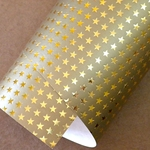 "Holiday Paper & Wrap - Gold Stars 20""x27"" Sheet"