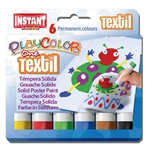 PlayColor Textil - 6 Solid Poster Paints