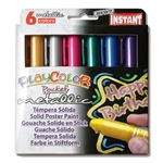PlayColor Pocket Metallic - 6 Thin Metallic Solid Poster Paints