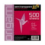 "Folia Origami Semi-Transparent Folding Squares - 500 6""x6"" Sheets"