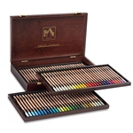 Caran d'Ache Set of 84 Pastel Pencils in a Wood Box