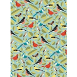 "Birds & Leaves Paper - 19""x26"" Sheet"