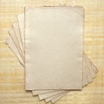 "Hemp Paper - 250 gsm 8.27x11.69"" Antique Natural  Deckle (5 Sheet Pack)"