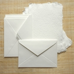 Hemp Paper Card Set - White (5 Cards & 5 Envelopes)