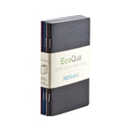 "EcoQua Staplebound Blank Cool Pocket Notebook Set of 4 - 3.5""x5.5"""