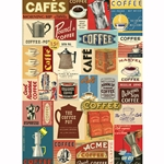 "Cavallini Papers from Italy - Coffee  20""x28"" Sheet"