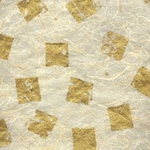 Thai Abaca- Metallic Gold on Natural 25x37 Inch Sheet