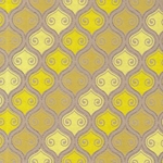 Printed Cotton Paper from India- Yellow/Lemon/Gold Marquis on Tan 22x30 Inch Sheet