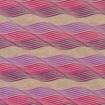 Printed Cotton Paper from India- Waves in Gold/Purple/Magenta on Tan Paper 22x30 Inch Sheet