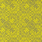 Printed Cotton Paper from India- Yellow Marquis on Tan Paper 22x30 Inch Sheet