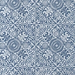 Printed Cotton Paper from India- White Marquis on Blue Paper 22x30 Inch Sheet