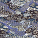 "Purple & Indigo Floral Pattern - 19""x25"" Sheet"