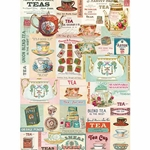 "Cavallini Papers from Italy - Vintage Tea Wrap 20""x28"" Sheet"