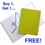 Buy 1 Get 1 FREE Citron Green Hardcover Sketchbooks