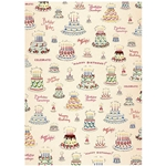 "Cavallini Decorative Paper - Happy Birthday 20""x28"" Sheet"