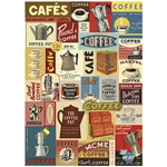 "Cavallini Decorative Paper - Coffee 20""x28"" Sheet"