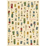 "Cavallini Decorative Paper - Paper Dolls 20""x28"" Sheet"